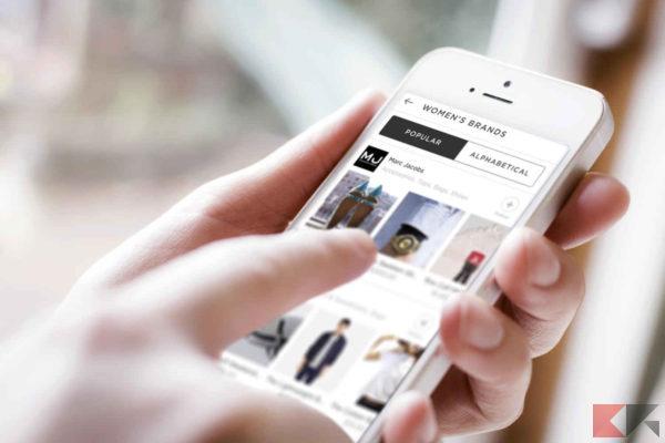 applicazioni iphone per lo shopping