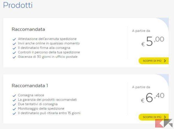 raccomandata online poste italiane