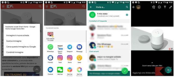 Invio da browser su Android