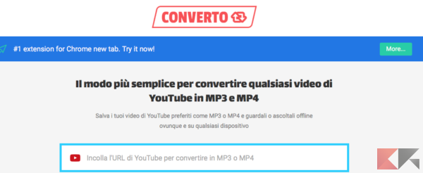 Come convertire video Youtube