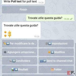 sondaggio telegram