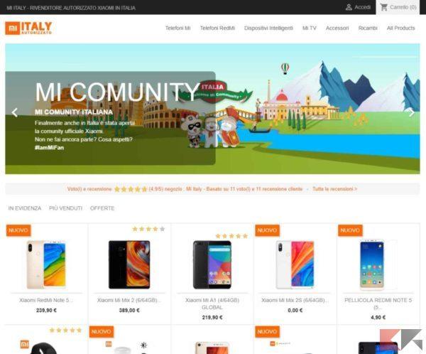 Xiaomi Mi Italy