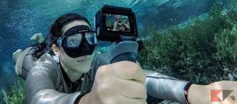 action camera subacquea
