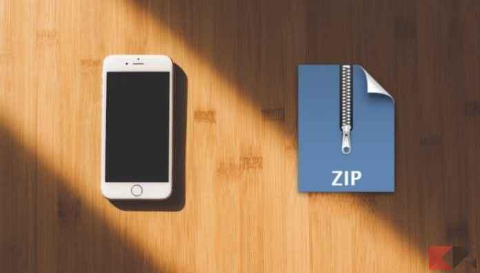 aprire file zip su iphone 6
