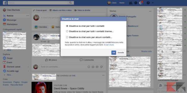 nascondere ultimo accesso facebook messenger