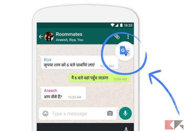 tradurre messaggi whatsapp