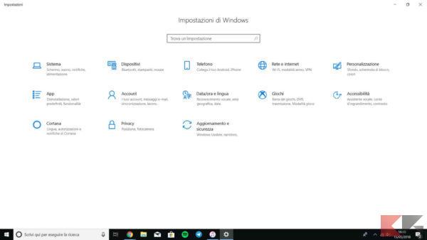 disinstallare programmi Windows 10 1