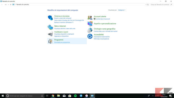 disinstallare programmi Windows 10 3