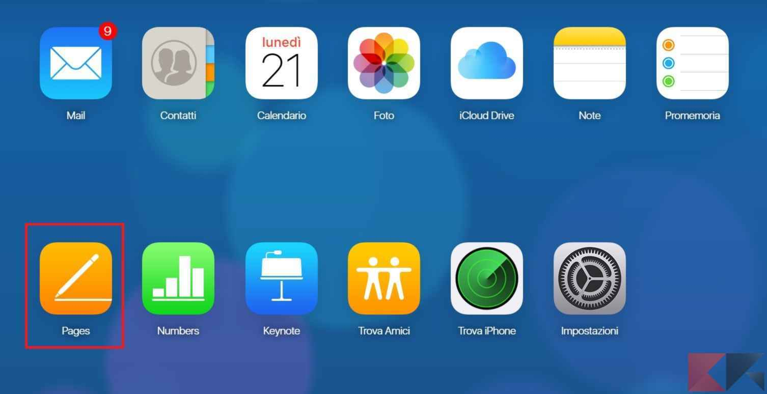pages icloud
