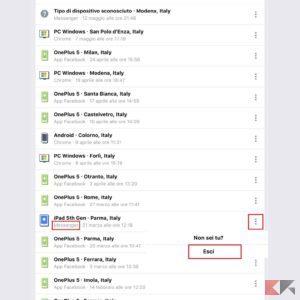 ricerche facebook ios 2