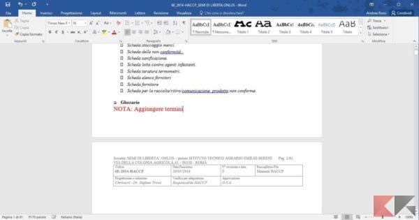scrivere su PDF con word