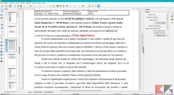 scrivere su pdf con libreoffice