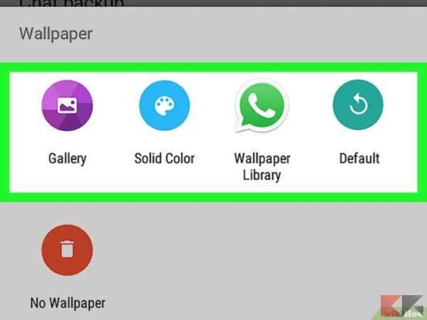 Come cambiare sfondo a WhatsApp