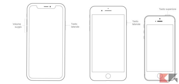 spegnere iphone bloccato