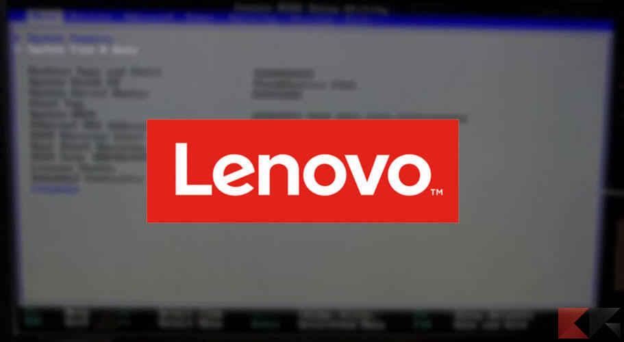 Come entrare nel BIOS Lenovo - ChimeraRevo