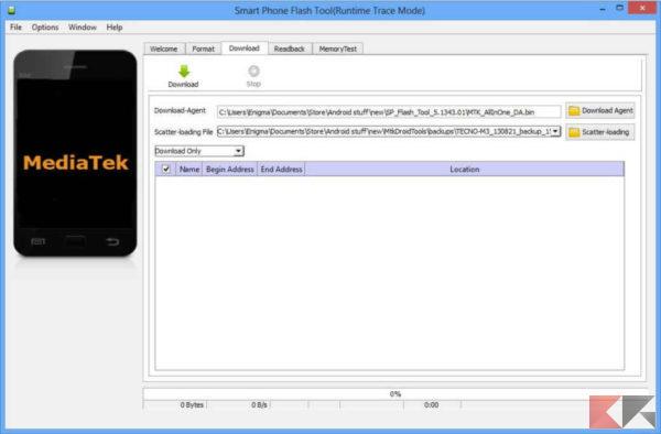 Come flashare ROM su Android con SP Flash Tool 1