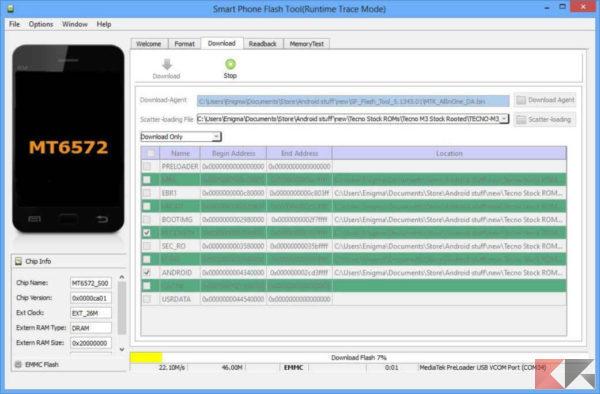Come flashare ROM su Android con SP Flash Tool