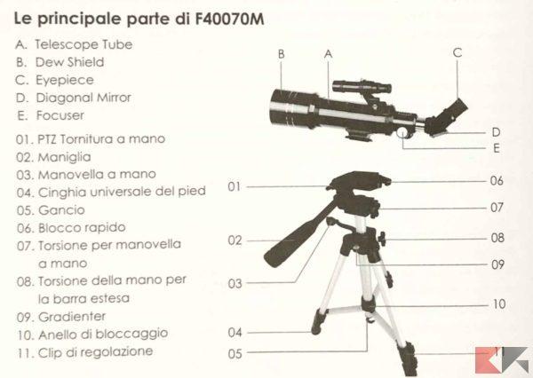 Telescopio Astronomico INTEY 4