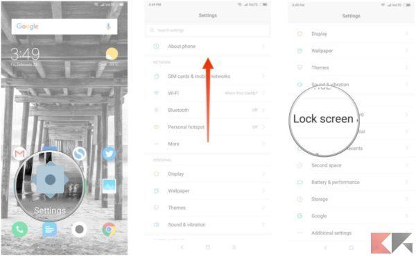 come avere face unlock smartphone xiaomi