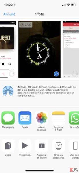 inviare file con AirDrop
