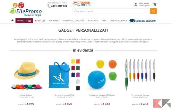 migliori siti per gadget personalizzati - ellepromo