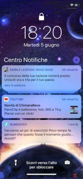 notifiche iOS 12