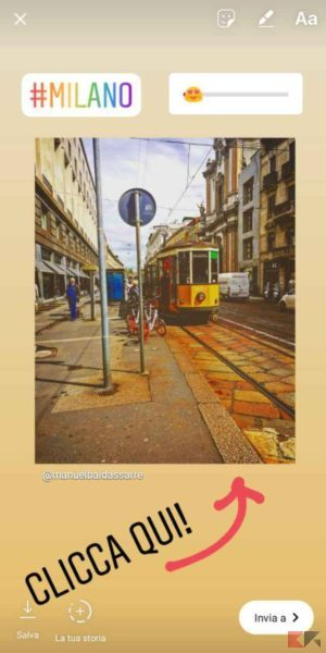 come condividere post Instagram nelle storie