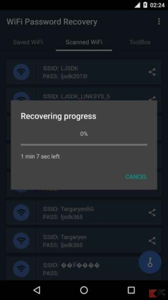 wifi password recovery