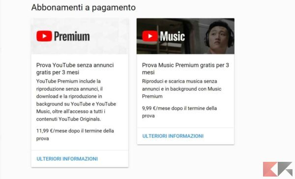 youtube premium abbonamenti