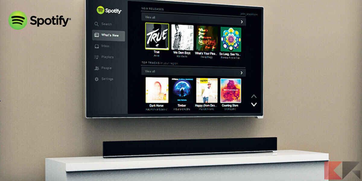 Come scaricare e installare Spotify su Smart TV