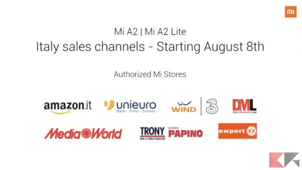 Xiaomi A2 e A2 Lite in Italia