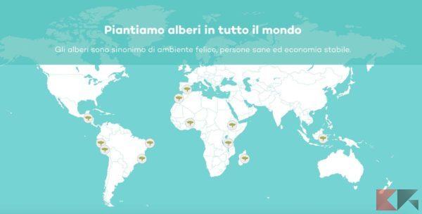 Ecosia: il motore di ricerca che pianta alberi