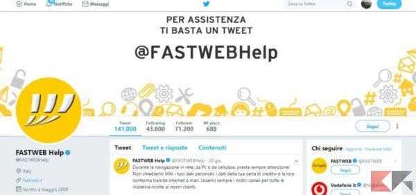 fastweb Twitter