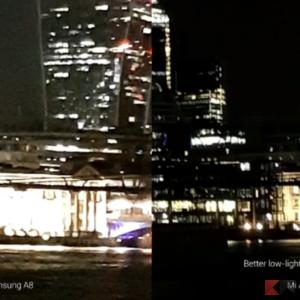 foto Xiaomi A2 vs Galaxy A8 2