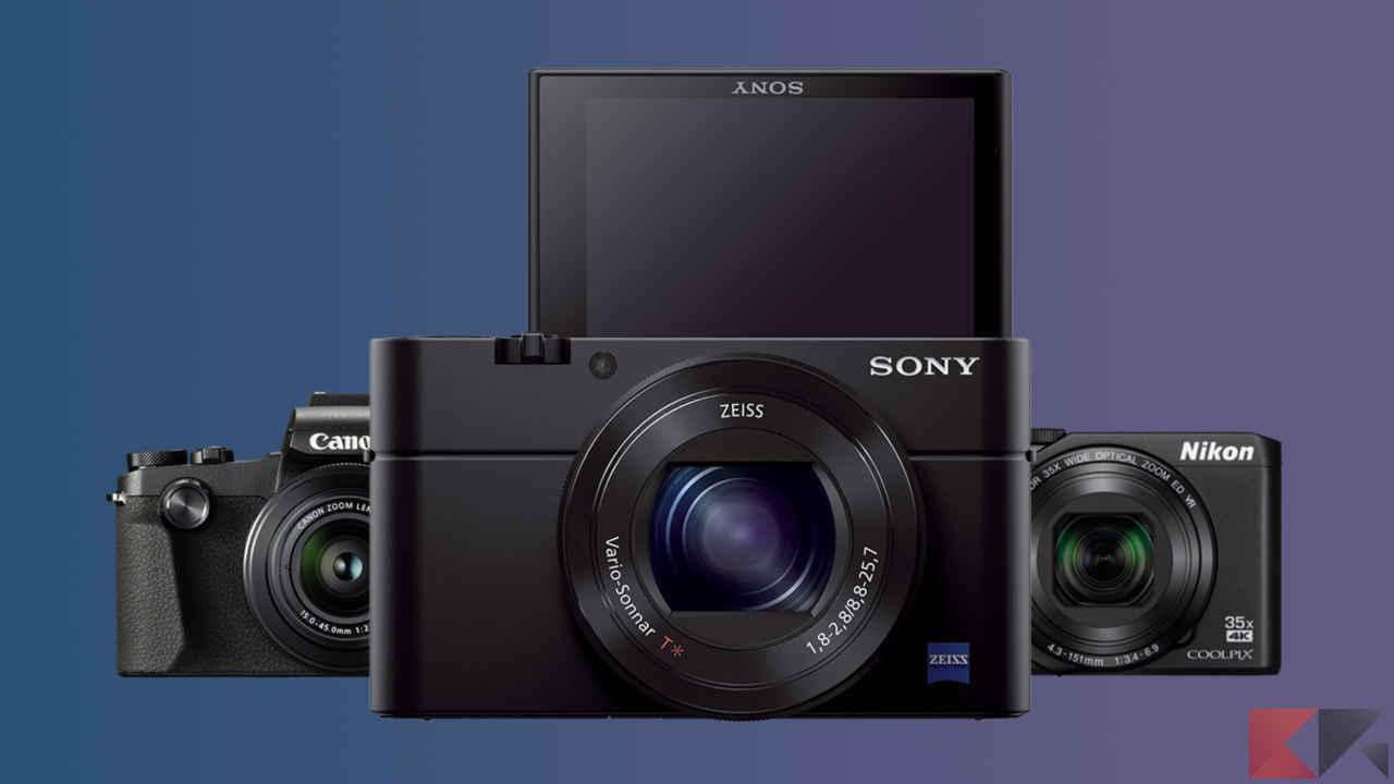 fotocamera compatta con display orientabile