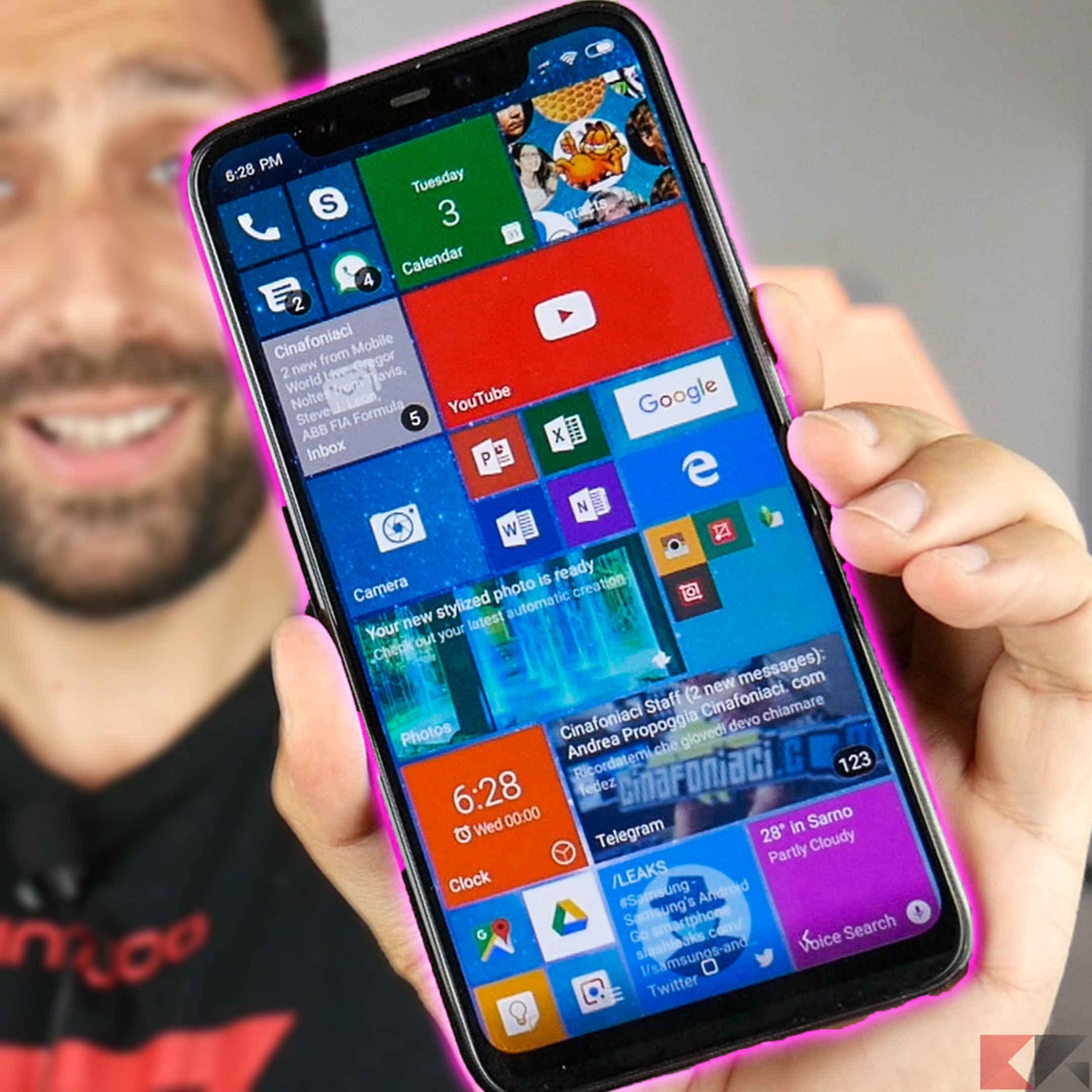 Personalizzazione Android Windows phone su android