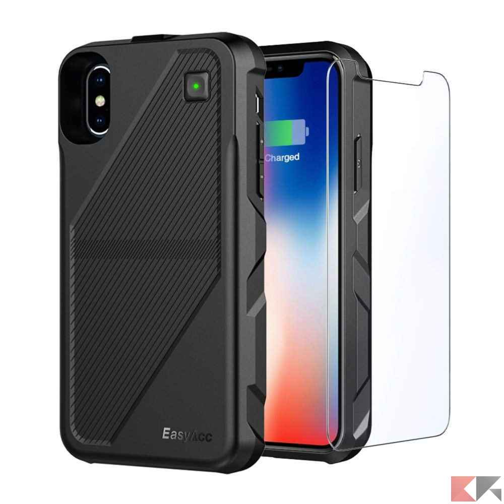 Cover Batteria iPhone X 5000 mAh - EasyAcc