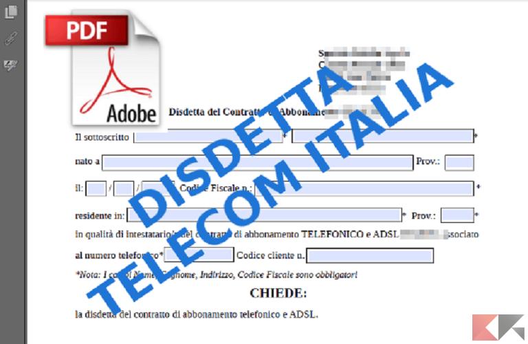 Come disdire il contratto con Telecom: procedure e moduli