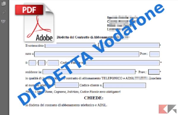 Disdetta Vodafone Costi Penale E Moduli Chimerarevo