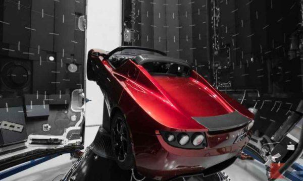 Tesla Roadster Falcon-Heavy