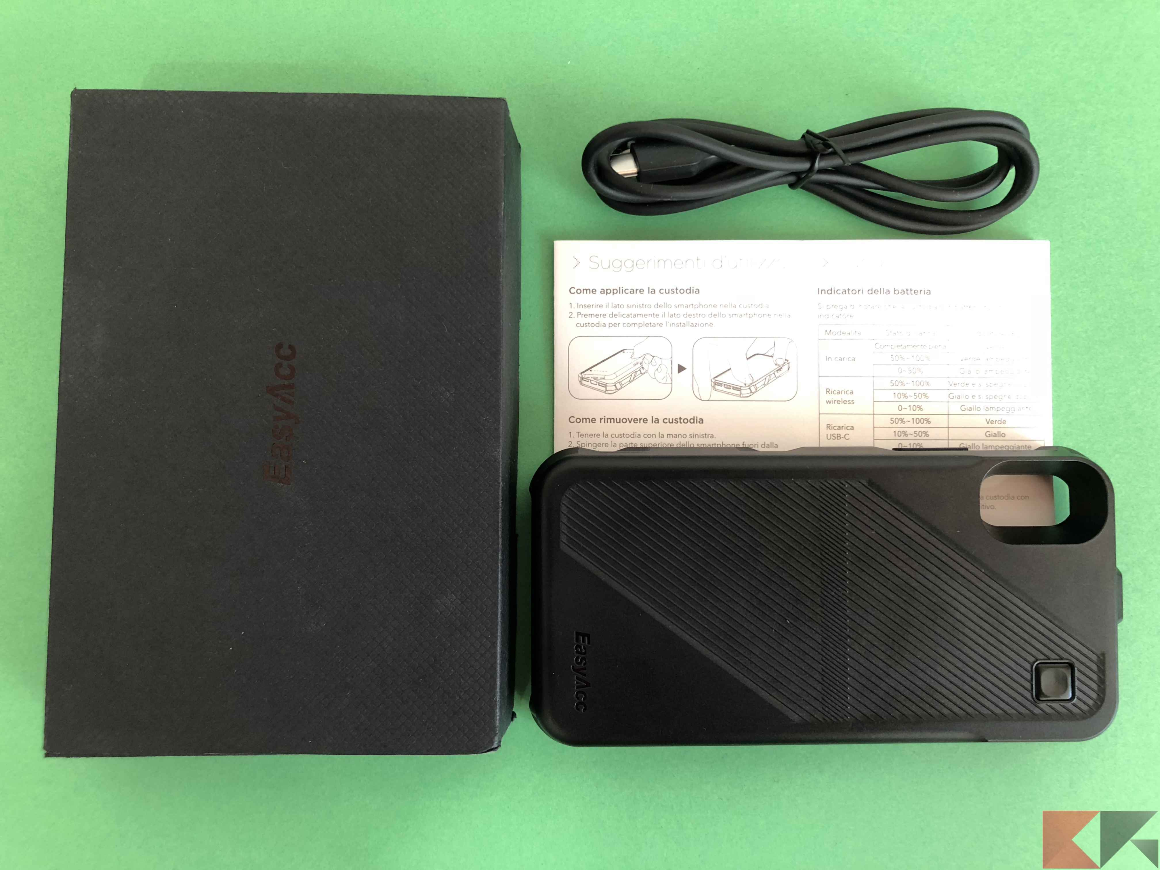 EasyAcc 5000 mAh custodia batteria iPhone X