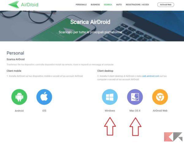 Trasferire dati e foto da iPhone a PC senza iTunes - airdroid