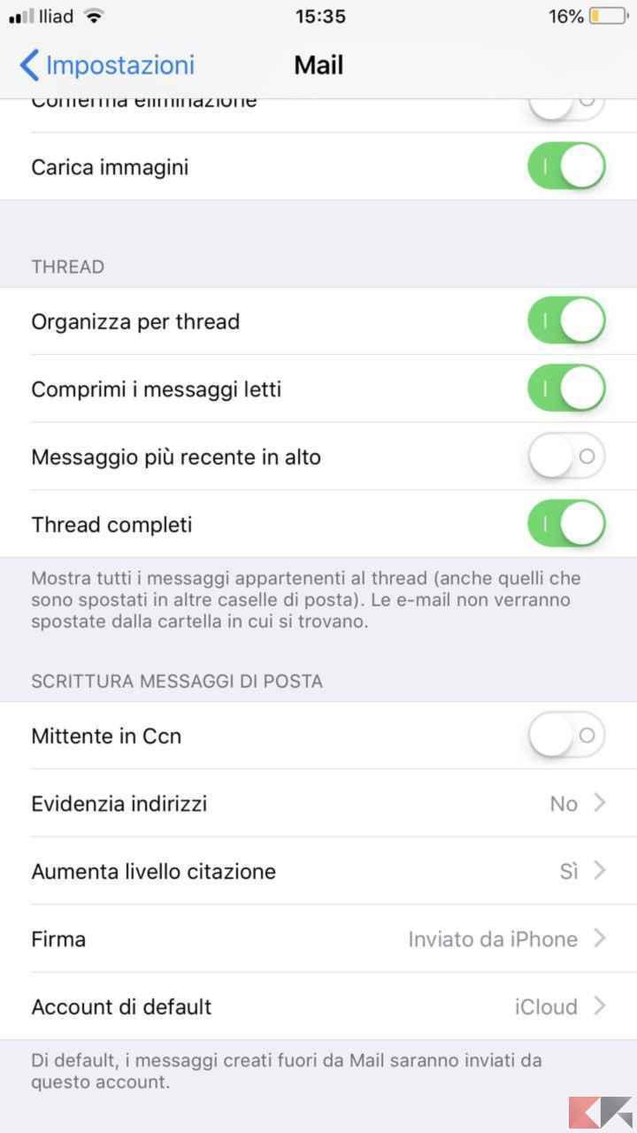 Come cambiare email su iphone chimerarevo for Cambiare il percorso dei backup del tuo iphone