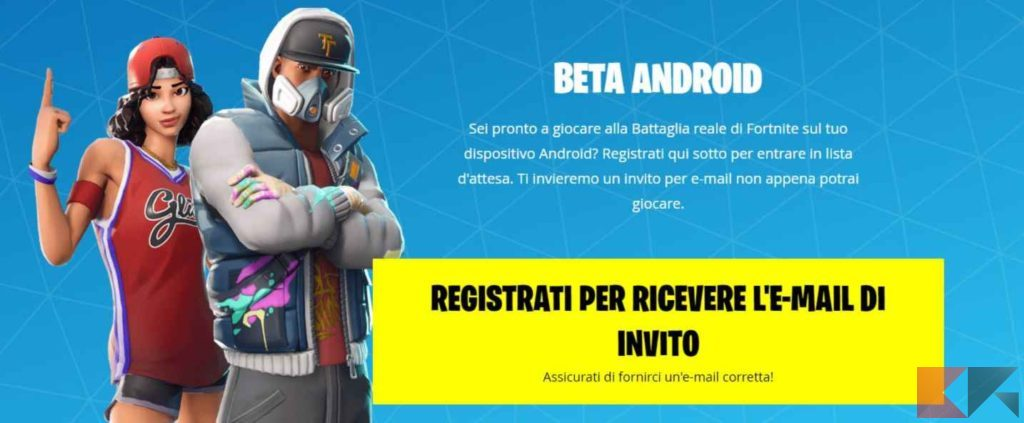 fortnite beta android