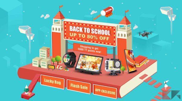 """TomTop: promozione """"Ritorno a Scuola"""" con sconti fino all'80% sulla tecnologia!"""