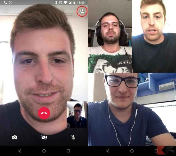 videochiamate di gruppo con WhatsApp Android