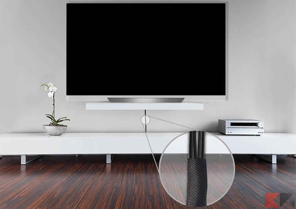 Come nascondere i cavi della TV