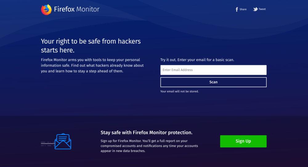 Firefox Monitor cos'è e come funziona