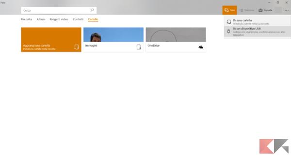 Importazione Foto Windows 10