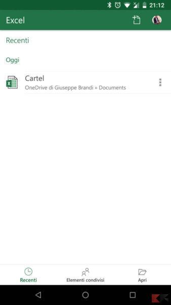 Unire celle Excel Smartphone